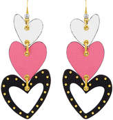 Henri Bendel Leather Heart Earring