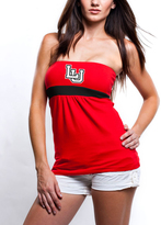 No Name Red Liberty Flames Gathered Tube Top - Women