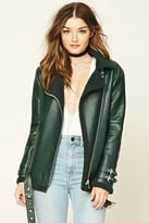 Forever 21 FOREVER 21+ Faux Leather Moto Jacket
