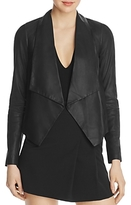 Alice + Olivia Warren Open-Front Leather Jacket