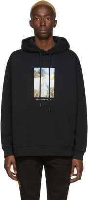 Marcelo Burlon County of Milan Black Over Holy Square Hoodie
