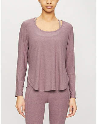 Beyond Yoga By Cut And Run scoop-neck stretch-jersey top