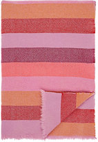 The Elder Statesman Striped Woven Cashmere Throw-PINK, NO COLOR
