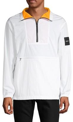 DKNY Logo Half-Zip Jacket