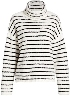 ATM Anthony Thomas Melillo Chinelle Funnelneck Striped Sweater