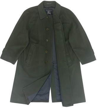 Burberry Green Wool Coats