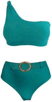 Lula Ru Nicola Green Bikini Set