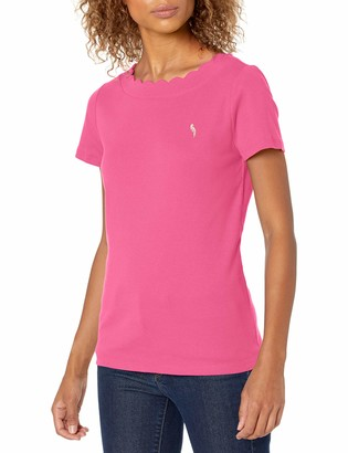 Pappagallo Women's Scallop Edge TEE