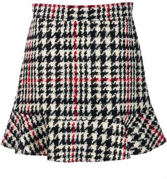 RED Valentino houndstooth check skirt