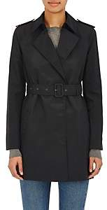 Barneys New York Women's Cotton-Blend Belted Trench Coat - Black