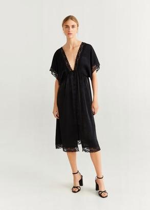 MANGO Lace applique dress