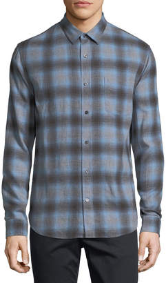 Vince Shadow Plaid Long-Sleeve Shirt