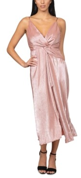 Bebe Twisted Pleated Maxi Dress
