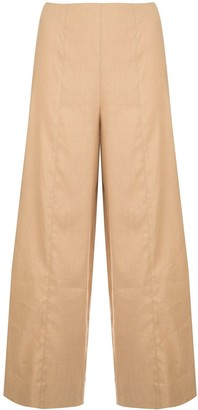 Vince High-Waisted Cropped Trousers