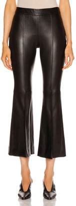 Rosetta Getty Pull On Cropped Flare Pant in Black | FWRD