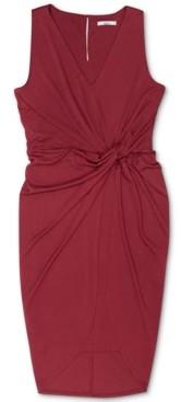 Bar III Sleeveless Twist-Front Dress, Created for Macy's