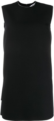 MSGM Crystal-Embellished Shift Dress