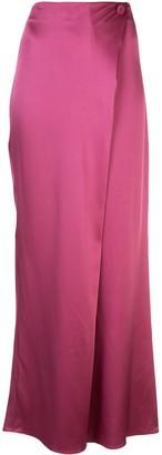 Cushnie wrap-style silk trousers