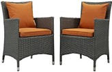 Tripp Patio Dining Chair with Cushion Brayden Studio Cushion Color: Tuscan
