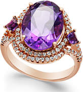 Macy's Amethyst (5-3/4 ct. t.w.) and Diamond (3/8 ct. t.w.) Ring in 14k Rose Gold