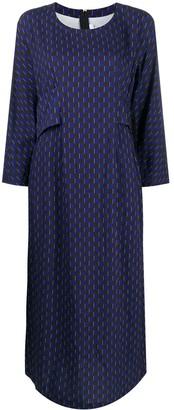 Comme des Garçons Comme des Garçons Long Geometric-Print Dress