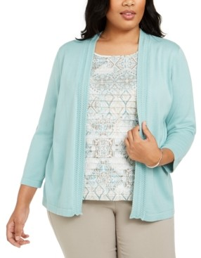 Alfred Dunner Plus Size Cottage Charm Layered-Look Sweater