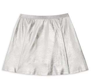 MIA New York Girl's Metallic Skater Skirt