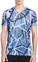 Calvin Klein Slim Fit Printed V-Neck T-Shirt
