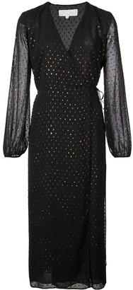 Mason by Michelle Mason Polka Dot Wrap Dress