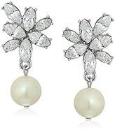 """Carolee Waldorf"""" Cluster Pierced Drop Earrings"""