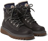 Moncler - Egide Shearling-lined Leather Hiking Boots