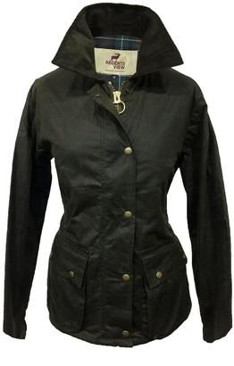 Regents View Ladies Premium Wax Jacket with Detachable Hood. 100% Wax Cotton. Made in The UK Brown