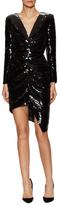 Saint Laurent Silk Sequin Sheath Dress