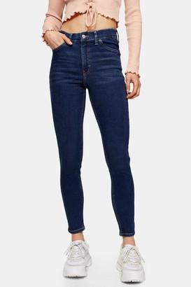 Topshop Womens Considered Indigo Jamie Skinny Jeans - Indigo