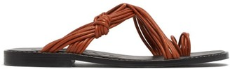 Loewe Paula's Ibiza - Toe-ring Leather Sandals - Tan