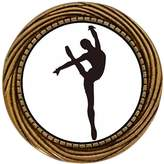 GiftJewelryShop Ancient Style Gold-plated Dance themes Ballet Dancer Winding Pattern Pins Brooch