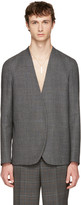 Maison Margiela Grey No Lapel Blazer