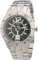 Swatch S Men's YTS407G Quartz Olive Dial Measures Seconds Stainless Steel Dial Watch