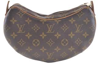 Louis Vuitton Vintage Croissant Brown Cloth Handbag