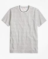 Brooks Brothers Heathered Stripe Tee Shirt