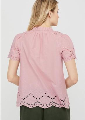 Monsoon Suzie SchiffliOrganic Cotton Boho Top - Pink
