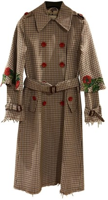 Gucci Brown Wool Trench Coat for Women