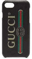 Gucci - Vintage Logo Leather Iphone 8 Case - Mens - Black