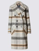 Marks and Spencer Collared Neck Overcoat with Wool