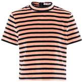 Alexander Wang Cropped velvet T-shirt
