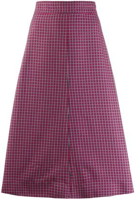 Cédric Charlier Flared Midi Skirt