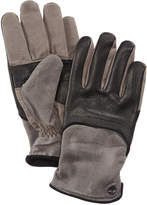 Timberland Men's Leather & Waxed Canvas Gloves