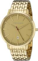 Vince Camuto Men's VC/1074GDGP The Associate Date Function Dial -Tone Bracelet Watch