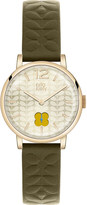 Orla Kiely OK2006 Frankie leather and stainless steel watch