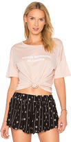 Amuse Society Cheers Sunshine Tee in Rose. - size L (also in M,S,XS)